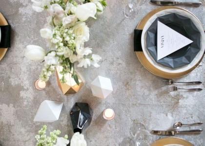 Matrimonio a tema geometrico