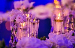 Centrotavola candele e fiori