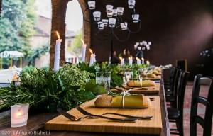 Dettagli tavola matrimonio
