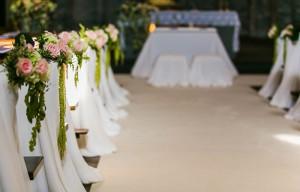 Decorazioni navata matrimonio